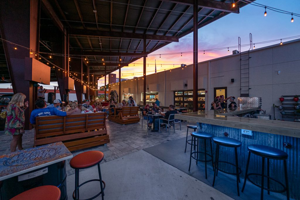 Enjoy some live music on the Back Porch at the Twisted Fork.
